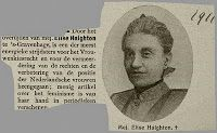 Gouvernantes in Suriname.   Elise Haighton was gouvernante in Suriname van 1885 tot 1893.  klik foto om artikel te lezen. Foto van Centraal Bureau voor Genealogie.
