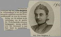 Gouvernantes in Suriname.   Elise Haighton was gouvernante in Suriname van 1885 tot 1893.  Dubbelklik foto om artikel te lezen. Foto van Centraal Bureau voor Genealogie.