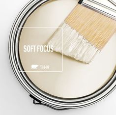Behr Color of the Month: Soft Focus (office wall cabinets paint colours) Interior Paint Colors, Paint Colors For Home, House Colors, Paint Colours, Interior Design, Paint Colors For Hallway, Cottage Paint Colors, Cream Paint Colors, Wall Colors