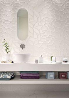 Bathroom tiles: ceramic and porcelain stoneware - Marazzi 6685 Bathroom Flooring, Bathroom Wall, Modern Bathroom, Small Bathroom, Master Bathroom, Bathroom Ideas, Bad Inspiration, Bathroom Inspiration, Bathroom Interior Design