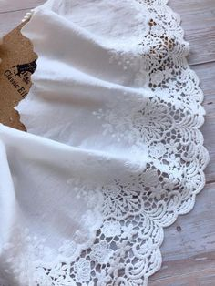 Off-white Floral Lace Trim, Cotton Lace, Retro Sewing Lace, Bridal Lace, Cotton Lace Dress Trims Sewing Lace, Vintage Sewing, Swatch, Cotton Lace, White Cotton, Eyelet Lace, Tulle Lace, Stylish Dresses For Girls, Lace Painting