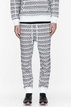UMIT BENAN White polka dot jogging pants