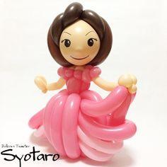 バルーンドール : プリンセス #doll #dress #balloon #balloonart #ドレス #バルーン #バルーンアート  大人なお洒落かわいいを研究中(´ー`)