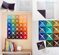 Origami paper craft wall decoration DIY