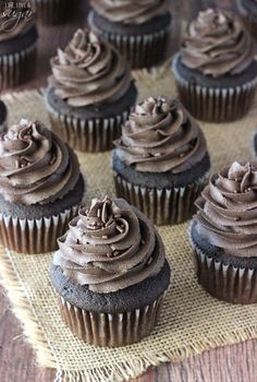 Moist Chocolate Cupcakes with a chocolate ganache center! Delicious and easy to make!