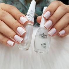 french nails tips Black Orange Nail Designs, Pretty Nail Designs, Pretty Nail Art, White French Nails, White Tip Nails, Short French Tip Nails, Gel Nagel Design, Nagel Hacks, Super Nails