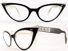 Vintage Eyeglasses Frames Eyewear Sunglasses 50S: VINTAGE 50s CAT EYE GLASSES SUNGLASSES FRAME GLASSES