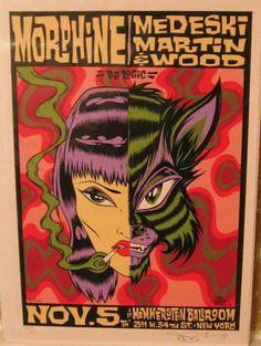 Morphine / Medeski Martin & Wood gig poster