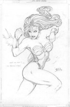 Wonder Woman Sketch by Ed Benes