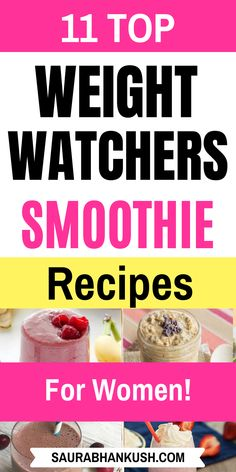 Quick Weight Watchers Smoothies Recipes with SmartPoints? 11 Weight Watchers Smoothies Breakfast which can be enjoyed with family. Our weight watchers smoothies Freestyle recipes with Points so as you can lose weight fast without any headache. Weight Watcher Desserts, Weight Watchers Smoothies, Weight Watchers Breakfast, Low Carb Breakfast, Breakfast Smoothies, Weight Watchers Meals, Breakfast Ideas, Breakfast Muffins, Breakfast Recipes