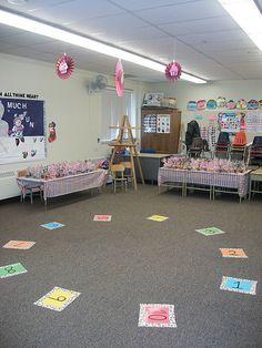 Cupcake Walk School Family Fun Night Carnival Game