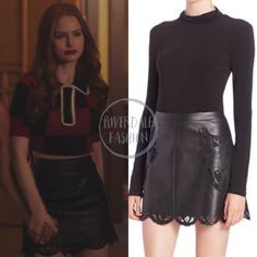 Fashion Tv, Couture Fashion, Fashion Outfits, Cherry Blossom Outfit, Skirt Outfits, Cute Outfits, Cheryl Blossom Aesthetic, Cheryl Blossom Riverdale, Riverdale Fashion