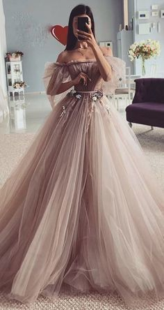 Fairy-tales Strapless Wedding Dresses Flowers Puff Sleeves Bridal Gowns CR 8530 - Source by noelitalava - Pretty Prom Dresses, Sexy Wedding Dresses, Princess Wedding Dresses, Beautiful Dresses, Cute Dresses, Bridesmaid Dresses, Empire Wedding Dresses, Long Dresses, Fall Dresses