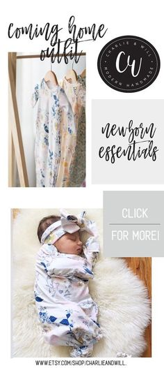 Coming home outfits for your new little babe is a must have newborn essential. Imagine the lifelong photos you will cherish of the first few days of your precious babe. Make sure they are extra special with the perfect coming home outfit, a knotted gown.