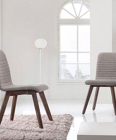 baxton studio light gray sugar dining chair set of two