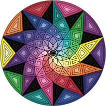 Free Geometric Mandala Coloring Designs..  also good inspiration for building mandala frameworks