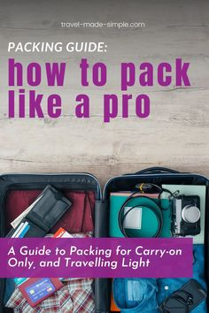 Learning to pack light is one of my best budget travel tips. Save money on travel by packing carry-on only! Here are the top tips for packing carry-on only, no matter what length your trip is. Plus grab your free packing checklist, helping you to pack all you need for your trip. Travel Packing Checklist, Carry On Packing, Packing Tips, Air Travel Tips, Budget Travel, Luggage Sizes, Pack Light, Best Luggage, What To Pack