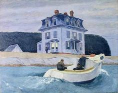 Edward Hopper, The Bootleggers, 1925. In 1912 Hopper ventured to Gloucester, Massachusetts, where he made his first lighthouse paintings and a group of outdoor landscapes.