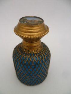 Stunning Antique French Eglomise Grand Tour Perfume Scent Bottle C1860 | eBay
