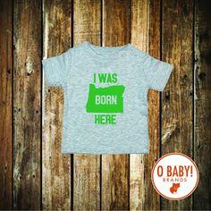Born Here Oregon Bodysuit and Tee