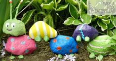 Rock Caterpillar         Instructions     Old Tire wishing well        Instructions     The Coolest Bird Feeder for Kids to Make!...