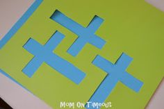 Stained Glass Cross Craft - Mom On Timeout