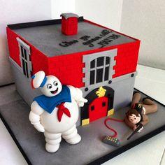 Ghostbuster cake - Cake by Bella's Bakery Ghostbusters Cake, Ghostbusters Birthday Party, Lego Birthday Party, Halloween Birthday, 9th Birthday, Boy Birthday Parties, Birthday Cakes, Birthday Ideas, Die Geisterjäger