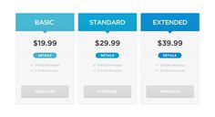 #Pricing #Table #PSD,  #Blue, #Buttons, #Flat, #Free, #Resource