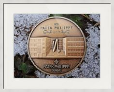 "Patek Philippe Geneve commemorative medal coin framed print in Contemporary White configuration. Price starts at $92 (Petite 17.5"" x 20.5""). // #patekphilippe #medallion #framedphotograph #homedecor #walldecor // http://www.imagekind.com/Patek-Philippe-Geneve-PPG_art?IMID=250a3c3a-9ae1-45ee-b711-570bba7fbf97"