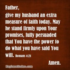 A Scripture-based Prayer for Your Husband's Faith - Kaylene Yoder Prayer For Work, Prayer For Peace, Power Of Prayer, Daily Prayer, My Prayer, Prayer Room, Powerful Scriptures, Prayer Scriptures, Bible Prayers