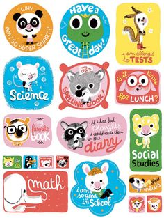 Marc Boutavant Stickers