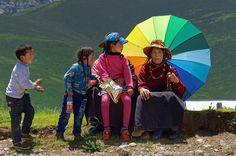 Sunflower flake spitting, Tibet 2014   by reurinkjan