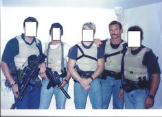 SGM [Ret] Pat McNamara and other members of Delta Force, date unknown, mid 1990s.