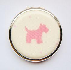 Pink Scottie Dog Convertible Stratton Compact, £33.00