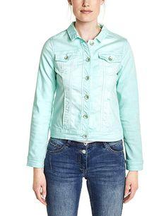 Cecil - 40.24 - 4.3 von 5 Sternen - Frühlingsjacke Denim Button Up, Button Up Shirts, Jeans, Tops, Fashion, Jackets, Moda, Fashion Styles, Fashion Illustrations