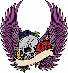 Skulls Wings and Roses Design by NexgenGrafix.deviantart.com on @deviantART