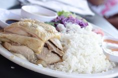 Hainan Chicken Rice With Salad