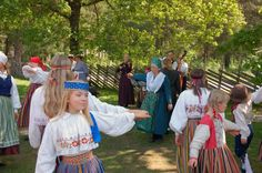 Traditional Folk Events in the National Museum of the country life (near Tallinn), Estonia