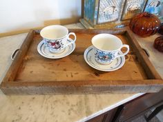 Rustic Serving tray Tea Cart French Country by LynxCreekDesigns