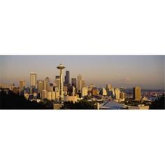 Panoramic Images PPI67910L High angle view of buildings in a city Seattle Washington State USA Poster Print by Panoramic Images - 36 x 12, As Shown