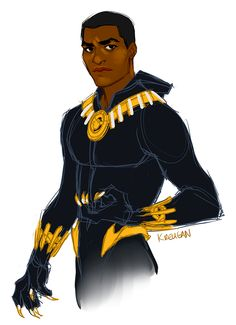 kreugan: Chiwetel Ejiofor as T'Challa! taking a break from work and this was on my dash, couldn't resist a sketch - Alycia and I have wanted Chiwetel to play Black Panther for ages. oh my lord beautiful Black Panther Storm, Black Panther Art, Black Panther Marvel, Marvel Comics Art, Marvel Dc, Johnlock, Destiel, X Men, Hulk