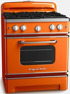 """Retro Kitchen Appliances: Big Chill currently sells refrigerators, dishwashers and stoves that are all modeled to look like 50s-style vintage appliances. Yet, while these appliances may look old, Big Chill promises that they each come with all the most """"modern amenities."""""""