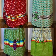 Sewing Projects Skirts Awesome Ideas For 2019 Native American Clothing, Native American Regalia, Native American Beading, Native American Fashion, Fancy Shawl Regalia, Band Shirt, Applique Skirt, Jingle Dress, Ribbon Skirts