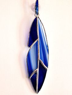 Stained Glass Feather Suncatcher by GlassofDistinction on Etsy, $13.95