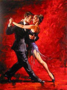 Pareja de bailarines de tango.