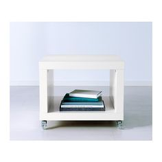 LACK Side table on casters - white - IKEA