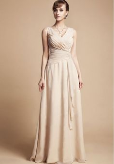 If I have any older bridesmaids (meaning my age/ older than Anna)  Simple #Champagne #Bridesmaid Dress
