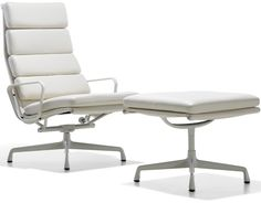 Charles & Ray Eames Eames Soft Pad Group Lounge & Ottoman by Herman Miller