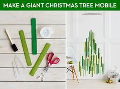 DIY Giant Christmas Tree Mobile by Confetti Pop