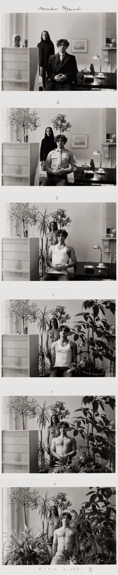 Duane Michals, Paradise regained, 1968 (Copyright Duane Michals, Courtesy Pace/MacGill Gallery, New York) Narrative Photography, Photography Jobs, Conceptual Photography, Photography Projects, Abstract Photography, Duane Michals, Sequence Photography, Lise Sarfati, Photo Sequence